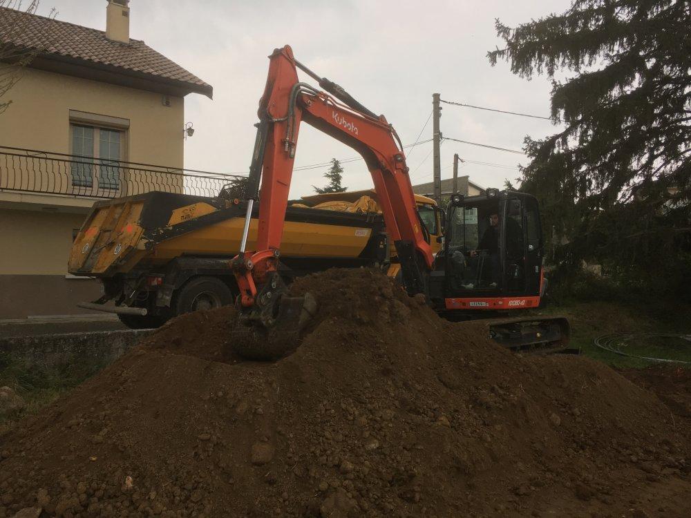 Entreprise de terrassement pour une construction de maison à Ternay